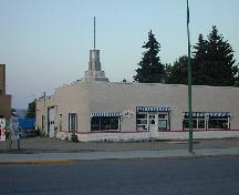 Mainline Ford Building in Indian Head from northwest, 2003.; Government of Saskatchewan, Bernie Flaman, 2003