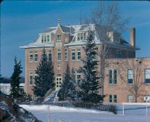 Front view of Luther Academy, 1984.; Government of Saskatchewan, F. Korvemaker, 1984.