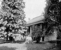View of Jesse Ashbridge House prior to 1899 addition by Elizabeth Ashbridge; OHT