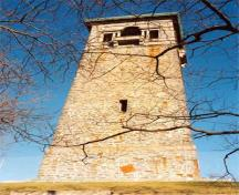 General view of the Memorial Tower from the south, showing the quality of the ironstone base and granite top, 2007.; Halifax Regional Municipality \ Region Municipal de Halifax 2007
