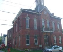 Of note is the two storey addition of the former Acton Fire Hall.; Kirsten Pries, 2008.