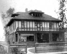 Historic exterior view of the Warren House, no date; Penticton Museum