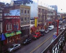 View from Chinese Benevolent Association Building balcony; Parks Canada / Parcs Canada, 2010 (Kate MacFarlane)