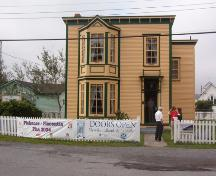 Photo of front facade of O'Reilly House taken during Doors Open 2004.; HFNL/ 2006