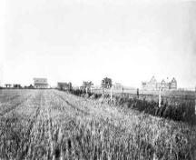 School building and grounds, Indian Residential School, Edmonton, Alta.] / Rev. J.F. Woodsworth, Edmonton, Alta., [between 1925 and 1936