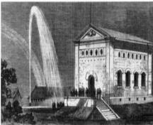 View of the Hamilton Waterworks on the occasion of the Prince of Wales's visit. (The Illustrated London News, 17 November 1860); The Illustrated London News, 1860