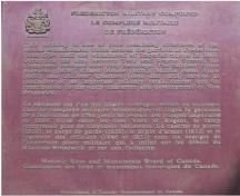 Photo of plaque commemorating site; Parks Canada Agency / Agence Parcs Canada, 1989