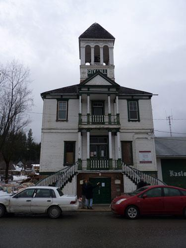 front view of Kaslo Municipal Hall, 2011