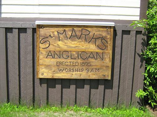 St. Mark's Anglican Church sign detail, 2011