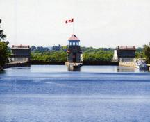 View of the Peterborough Lift Lock National Historic Site of Canada, 2012.; Parks Canada Agency / Agence Parcs Canada, 2012.