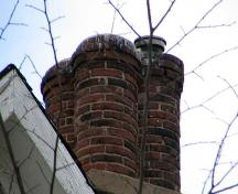 Detail of cloverleaf chimney, Flemming House, Halifax, 2005.; Heritage Division, NS Dept. of Tourism, Culture and Heritage, 2005.