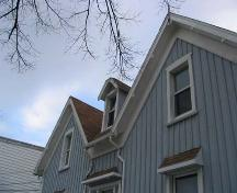 Detail of gable ends and dormer window, Fleming House, Halifax, 2005.; Heritage Division, NS Dept. of Tourism, Culture and Heritage, 2005.