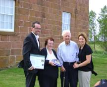 Presentation of designation plaque; Province of PEI, Charlotte Stewart, June 2011