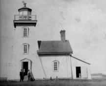 Cape Egmont Lighthouse with dwelling, ca. 1920; Carol Livingstone Private Collection