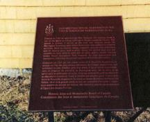 View of HSMBC plaque; Parks Canada / Parcs Canada, 1989