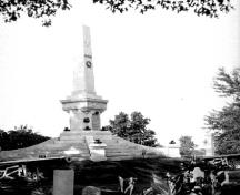 General view of the Battle of Lundy's Lane monument within Drummond Hill Cemetery, 1925.; Archives of Ontario / Archives publiques de l'Ontario, F 1075-13, H 1065, 1925.