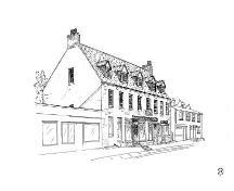 Drawing of Rorke's Stone House as featured in the book Ten Historic Towns: Historic Architecture in Newfoundland, 1978.; © Newfoundland Historic Trust 2007