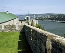General view of the Québec Citadel, 1993.; Parks Canada Agency/Agence Parks Canada, H.05.117.02.06(13), 1993.
