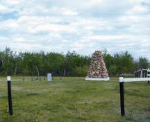 General view of the site and cairn.; Greg Melle, 2009. (All rights reserved, used with permission.)