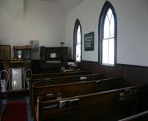 Interior view of Roseisle United Church, Morden, 2011.; Historic Resources Branch, Manitoba Culture, Heritage and Tourism, 2011