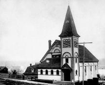 Historic Exterior view of St. Paul's Reformed Episcopal Church, 1899; New Westminster Public Library, NWPL 3080