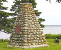 HSMBC Cairn and plaqued photo; Mr. Ivan Smith, 2003