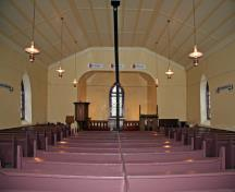 Interior view of St. Peter, Dynevor Old Stone Church, East Selkirk area, 2006; Historic Resources Branch, Manitoba Culture, Heritage & Tourism, 2006