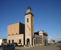 View of side elevation of the Virden Municipal Building and Auditorium, Virden, 2005; Historic Resources Branch, Manitoba Culture, Heritage,  ourism, 2005