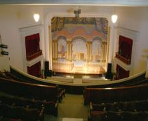 View of the auditorium from the balcony of the Virden Municipal Building and Auditorium, Virden, 2005; Historic Resources Branch, Manitoba Culture, Heritage and Tourism, 2005