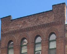 Showing detail of decorative brickwork; City of Charlottetown, Natalie Munn, 2005
