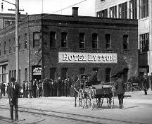 Exterior view of the Lytton Hotel, circa 1909; New Westminster Public Library, #1323