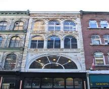 Detial of windows on upper storeys of building on south side of mall, Granville Mall Streetscape, Halifax, 2005.; Heritage Division, NS Dept. of Tourism, Culture and Heritage, 2005
