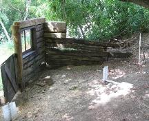 View of Doukhobor Dugout House following preservation treatment, July 2008; Government of Saskatchewan, Bernard Flaman, 2008.