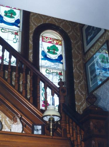 Showing decorative interior balustrade and windows