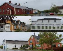 Selection of buildings within Heart's Content Heritage District, Heart's Content, NL. ; © HFNL/Andrea O'Brien 2013
