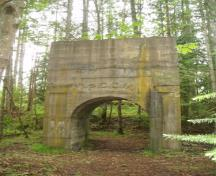 Morden Colliery concrete arch; BC Heritage Branch