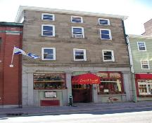 Upper Water Street elevation, Harrington MacDonald-Briggs Building, Halifax, Nova Scotia, 2005.; HRM Planning and Development Services, Heritage Property Program, 2005.