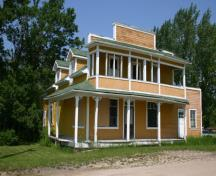 Front view of Gabel's General Store, Ladywood, 2005; Historic Resources Branch, Manitoba Culture, Heritage & Tourism, 2005