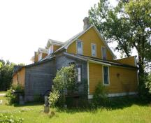 Rear view of Gabel's General Store, Ladywood, 2005; Historic Resources Branch, Manitoba Culture, Heritage & Tourism, 2005