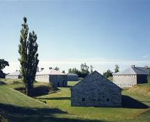 North-west facade ofpowder magazine at Fort Lennox; Parks Canada Agency / Agence Parcs Canada