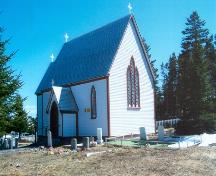View of front and right facades of St. Mary's Anglican Church, Elliston, NL.; © Tourism Elliston