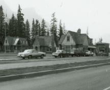 General view, Building 1, in the foreground, 1985.; Parks Canada Agency / Agence Parks Canada, 1985.