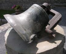 Church bell, damaged by fire and situated in St. Raphael's Church Ruins, 2005; OHT, 2005
