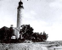 Historical image of the Chantry Island Lighthouse, ca. 1880.; Weeks-Mifflin, n.d.