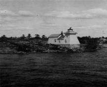 Historical view of the Lighthouse at Point-au-Baril, 1908.; Library and Archives Canada / Bibliothèque et Archives Canada, 1908.
