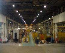 General view of Canadian Car & Foundry National Historic Site of Canada, showing the Production Bay 'B,' 2008.; Parks Canada Agency/Agence Parcs Canada, D. Dodd, 2008