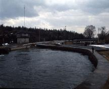 One of the Rideau Canal National Historic Site of Canada locks.; Parks Canada Agency / Agence Parcs Canada