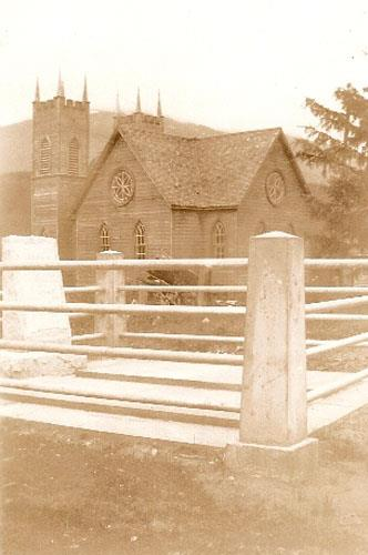 Meanskinisht Cemetery and Church, 1940s