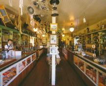 Interior view of General Store; BC Heritage Branch
