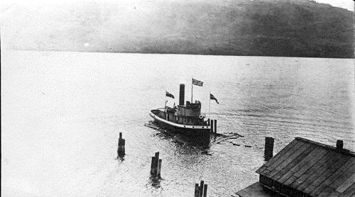 S.S. Naramata after launch, 1914